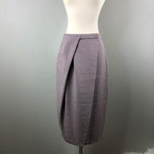Diane Von Furstenberg Lilac Wrap Tulip Silk Skirt